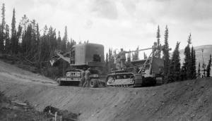 Boyd's Canyon, named after Capt Robert Boyd, was 60 feet deep about five miles south from Johnsons Crossing on Alaska Highway heading toward Teslin Village.