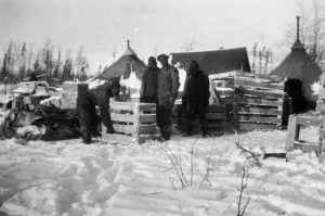 In December with temperatures of 40 to 50 below the Black Regiment packed up equipment for their next assignment, the Aleutians. 1942