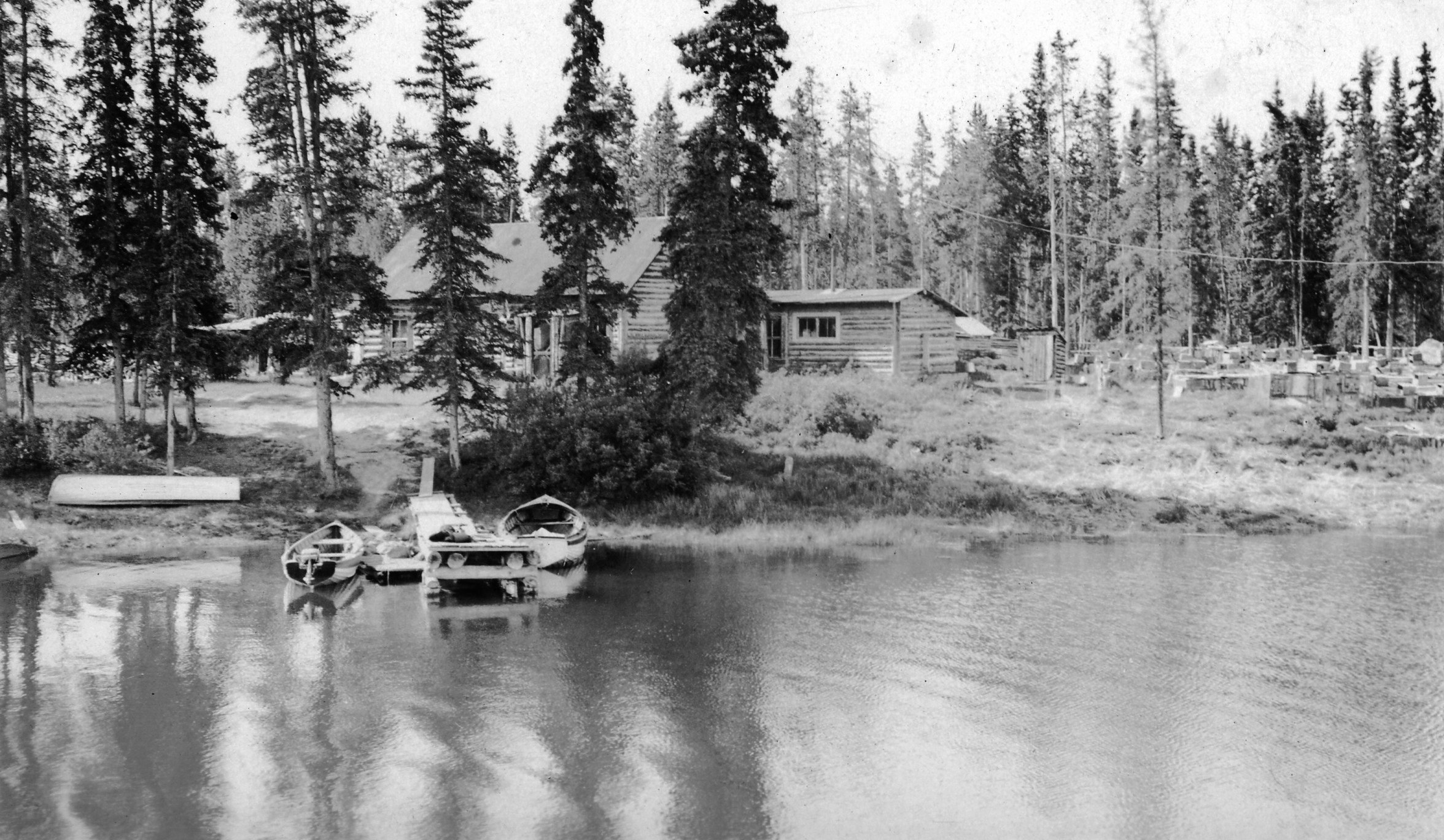 LOG CABIN AT TESLIN. Timberlake Collection. Full resolution‎  portrait, nominally Width 2352 Height 1368 pixels, portrait with #313131.